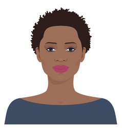 beautiful african american woman vector image