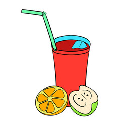 glass of sangria icon cartoon vector image