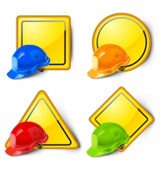 road signs icons vector image vector image