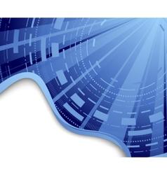 technological blue background - hi-tech vector image