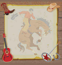 western rodeo cowboy vector image vector image