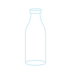 empty glass bottle isolated transparent flask on vector image vector image