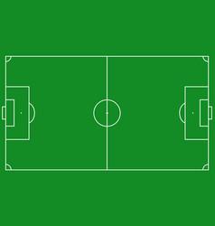 football field scheme vector image vector image