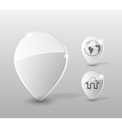 Glass pin vector image
