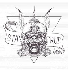 Hanuman Grunge print vector image