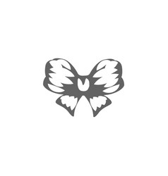 isolated abstract black and white color bow logo vector image vector image