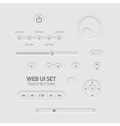 Light Web UI Elements vector image vector image