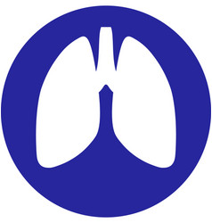lungs within a circle icon vector image vector image