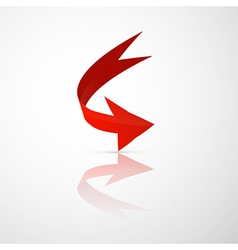 Red 3d Arrow vector image vector image