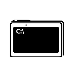 tablet device technology vector image