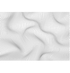 abstract black wave thin curved lines pattern on vector image