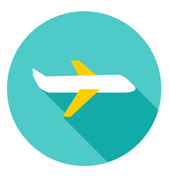 airplane circle icon vector image