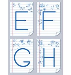 Alphabet sketch vector