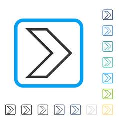 Arrowhead right framed icon vector