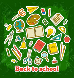 back to school elements template vector image