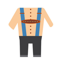 Bavarian costume vector