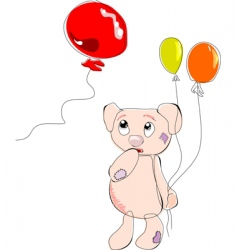 Bear with balloons vector