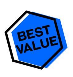 Best value sticker vector