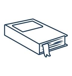 Book education school vector image