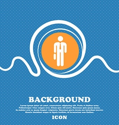 Businessman Icon sign Blue and white abstract vector