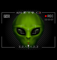 Camera rec alien in dark vector