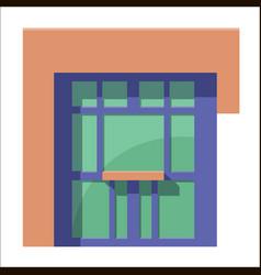 Cartoon flat stall or kiosk isolated on white vector