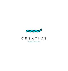 Chart diagram business creative logo design vector