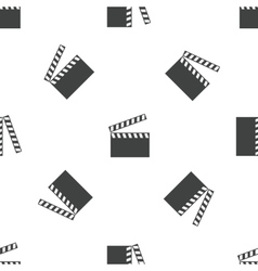 Clapperboard pattern vector