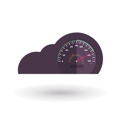 Cloud with a speedometer vector