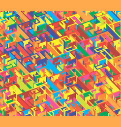 creative abstract colorful labyrinth seamless vector image
