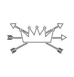 Crown frame style hipster vector