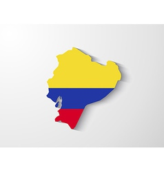 Ecuador map with shadow effect vector image
