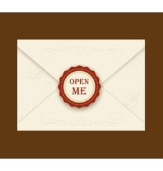 Envelope with rosette seal vector image