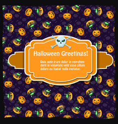 festive halloween party template vector image
