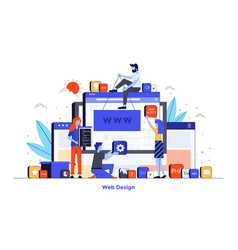 flat color modern design - web design vector image