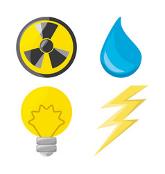 flat icon releated with nuclear energy drop water vector image