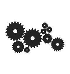 Gears in black design vector