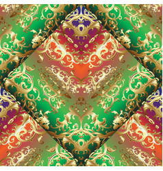 gold baroque 3d seamless pattern vector image