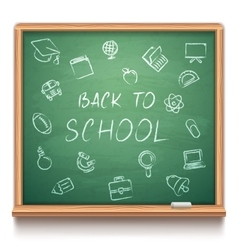 Green School Chalk Board vector image