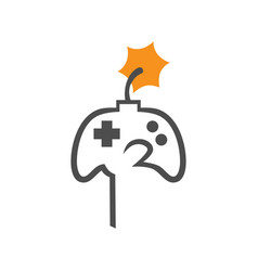 Hardcore gaming concept symbol vector