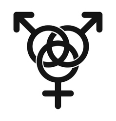 Homosexual family icon vector image