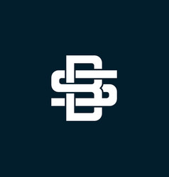 initial letter sb or bs logo template vector image
