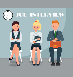 Job interview flat with text vector