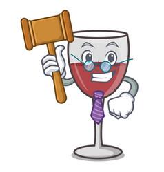 Judge wine mascot cartoon style vector