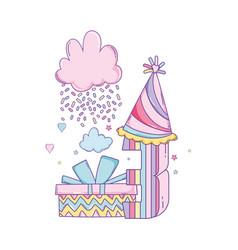 Kids birthday cartoons vector