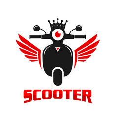 king logo scooter motorbike vector image