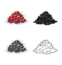 Landfill and trash symbol vector