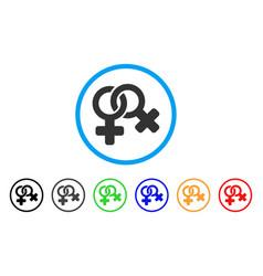 lesbi symbol rounded icon vector image