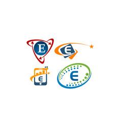 Logotype e modern template set vector