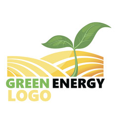 logotype of agriculture logo with a field vector image